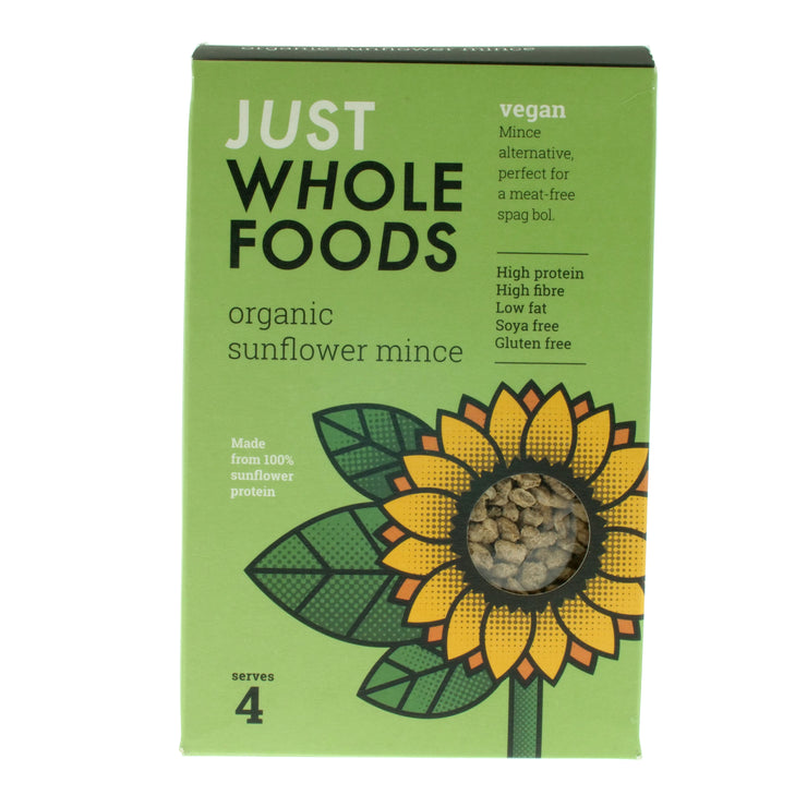Organic Sunflower Mince - Just Wholefoods - vegan-perfection-retail