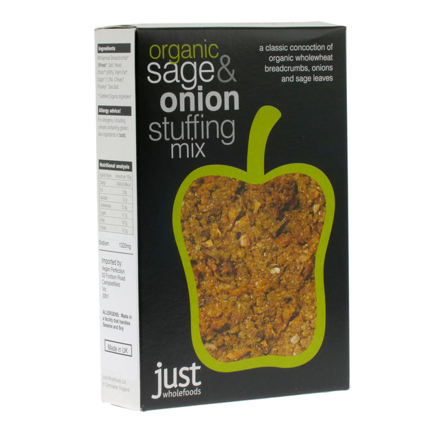 Organic Sage & Onion Stuffing - Just Wholefoods - vegan-perfection-retail