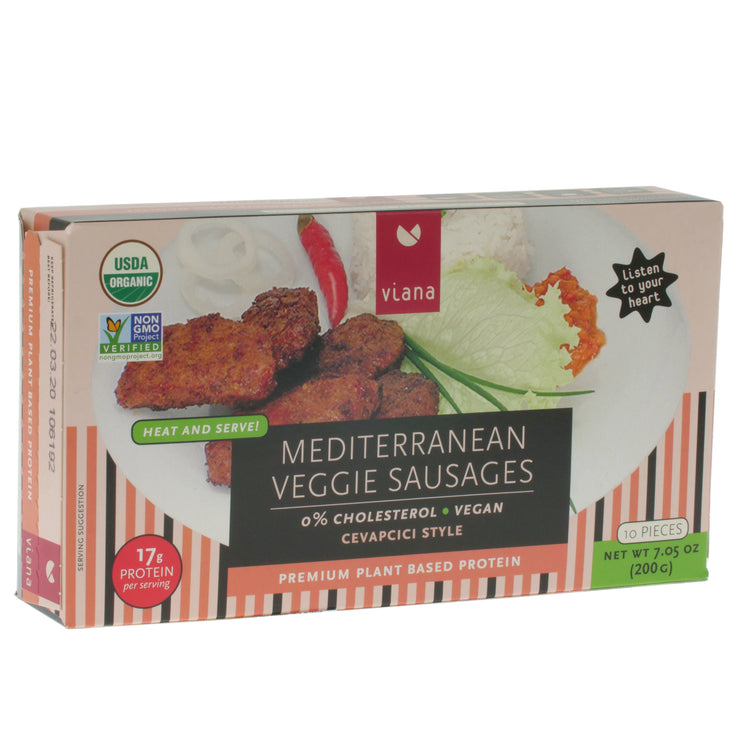 Mediterranean Veggie Sausages - Viana - vegan-perfection-retail