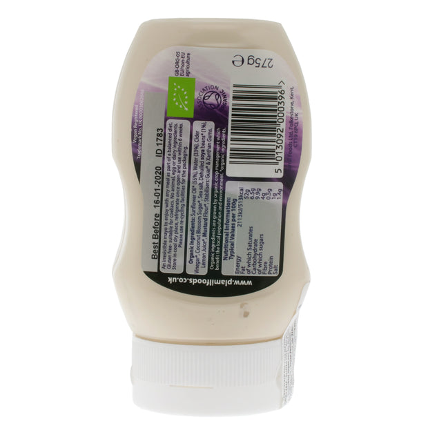Squeezy Organic Egg-free Mayonnaise - Plamil Organics - vegan-perfection-retail