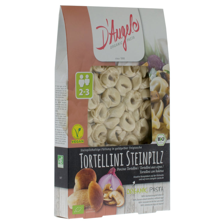 Organic Porcini Mushroom Tortellini - D'Angelo - vegan-perfection-retail