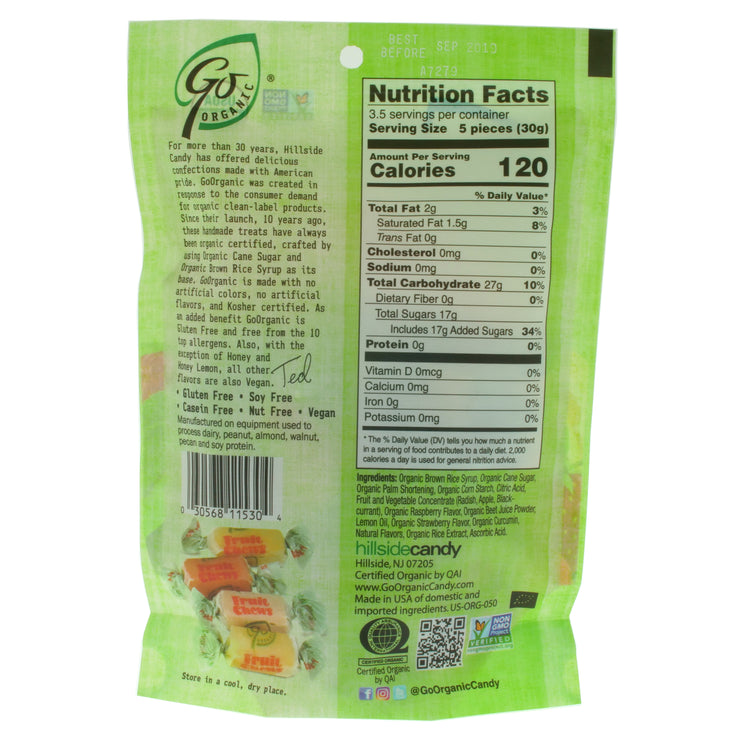 Fruit Chews - GoOrganic - vegan-perfection-retail