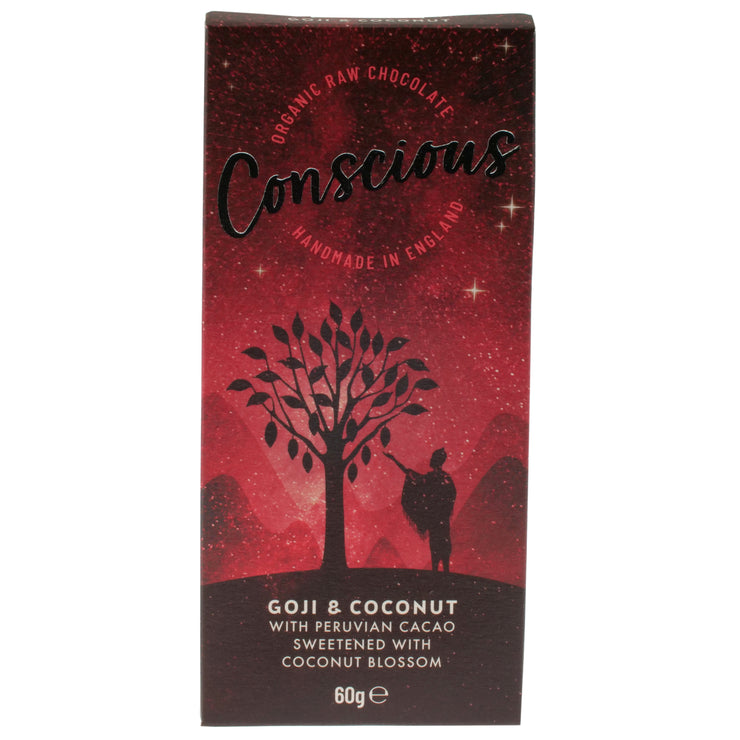Goji & Coconut Raw Chocolate - Conscious Co - vegan-perfection-retail