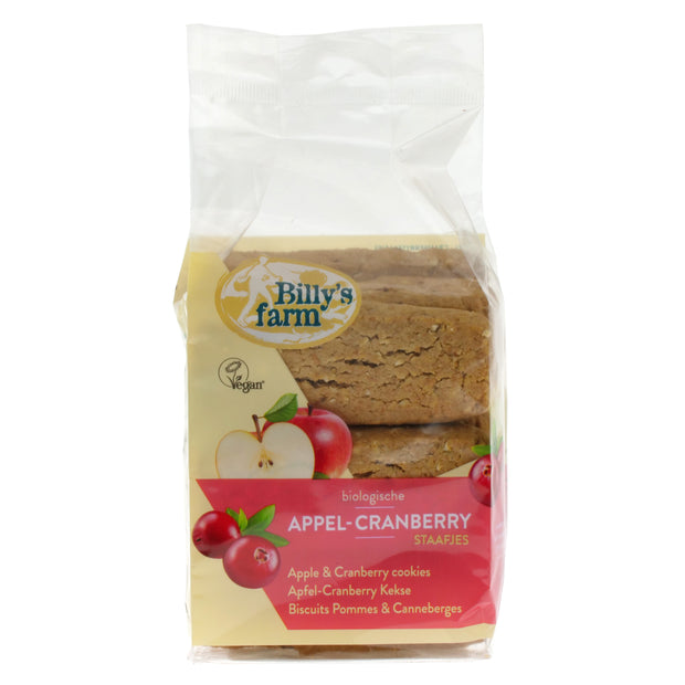 Apple & Cranberry Biscuits - Billy's Farm - vegan-perfection-retail