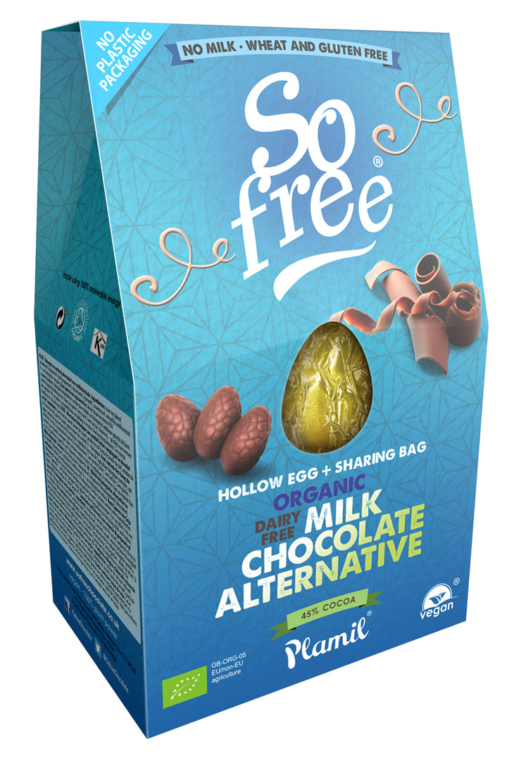 Organic Ricemilk Choc Easter Egg with Share Bag,So Free,vegan-perfection-retail