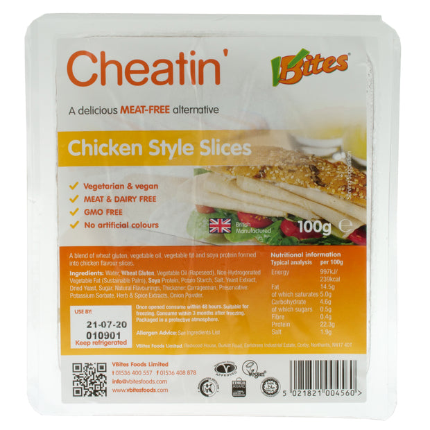 Cheatin' Chicken-style Slices - Redwood/V-Bites - vegan-perfection-retail