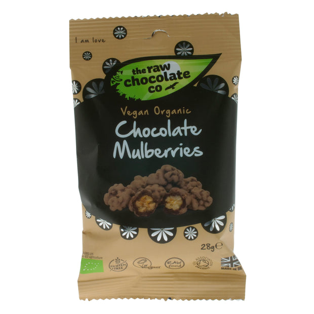 Choc Coated Mulberries - The Raw Chocolate Company - vegan-perfection-retail