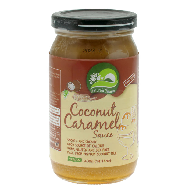 Coconut Caramel Sauce - Nature's Charm - vegan-perfection-retail