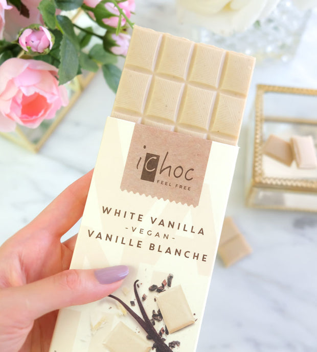 White Vanilla Chocolate - iChoc - vegan-perfection-retail