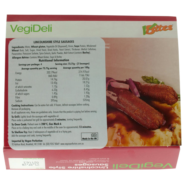 Lincolnshire Sausages - Redwood/V-Bites - vegan-perfection-retail