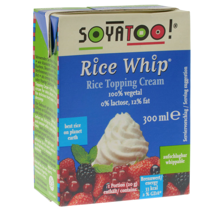 Rice Whip Topping Cream - Soyatoo - vegan-perfection-retail
