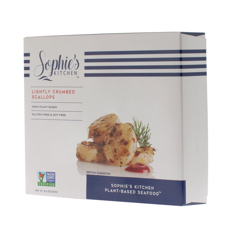 Lightly Crumbed Vegan Scallops - Sophie's Kitchen - vegan-perfection-retail