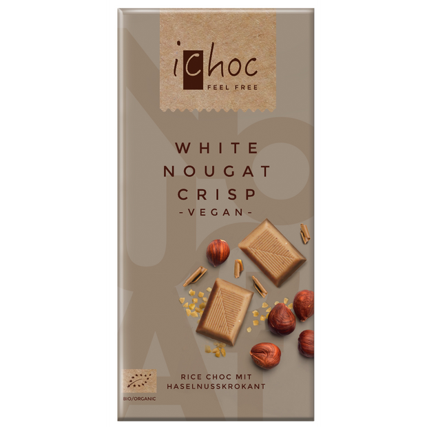 White Nougat Crisp - iChoc - vegan-perfection-retail