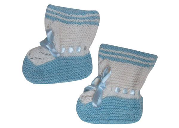 Baby Booties Lace Design