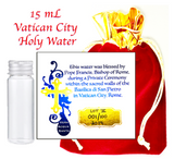 Holy Water Vial ✞ 15mL of Authentic Pope Francis Blessed Catholic Water from Vatican City ✞ Choose Your Size ✞ Must Have for Baptisms, Weddings, Exorcisms, Christenings, Evil Spirits, Haunted Houses, Prayer Groups.