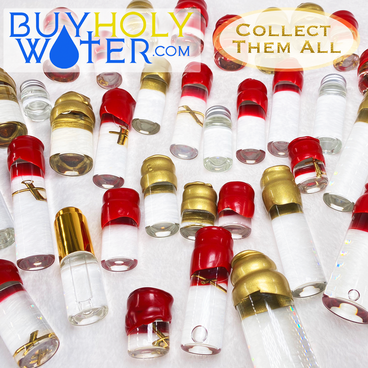 Holy Water Hanging Cross 20ml Vial