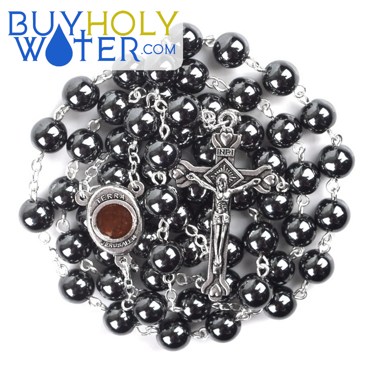 Blessed Hematite & Holy Soil Rosary