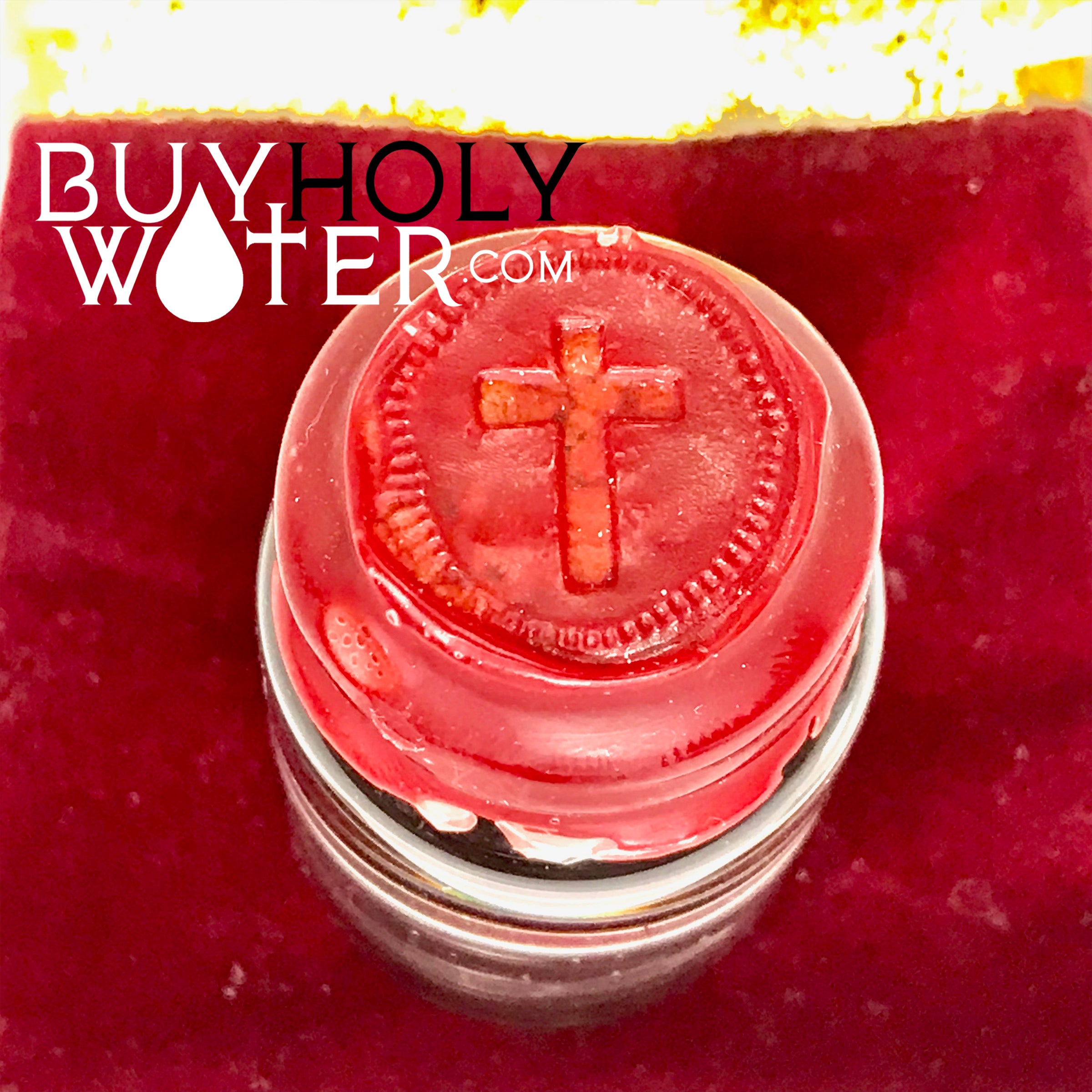 Authentic Holy Water Wax Dipped Stamped 25mL Vial Blessed By Pope Hand Made. - $25.99