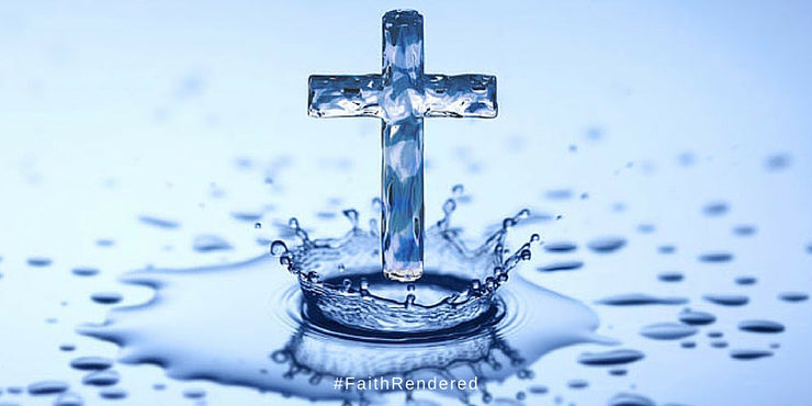 Holy Water Hanging Cross 15ml Vial