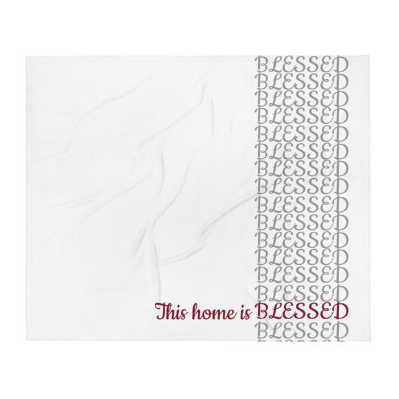 This Home is Blessed: Premium Throw Blanket