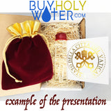 Holy Water Blessed by Pope Francis - Authentic & Powerful Wax Sealed 40mL Large Vial
