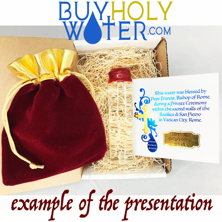 Authentic Holy Water • Red Wax Dipped & Stamped 10mL