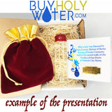 Holy Water Vial ✞ Red Wax & Stamp Sealed 10mL of Authentic Pope Francis Blessed Catholic Water from Vatican City ✞ Choose Your Size ✞