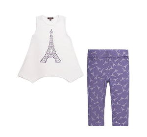 Blusa y Leggings Morados de Paris - Imoga