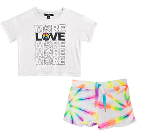 Conjunto de shorts multi/ neon more love -Flowers by zoe