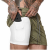 2-in-1 Secure Pocket men Shorts