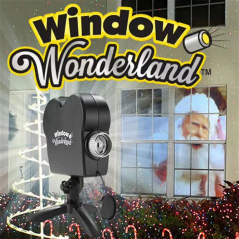 Window Wonderland projector for Halloween