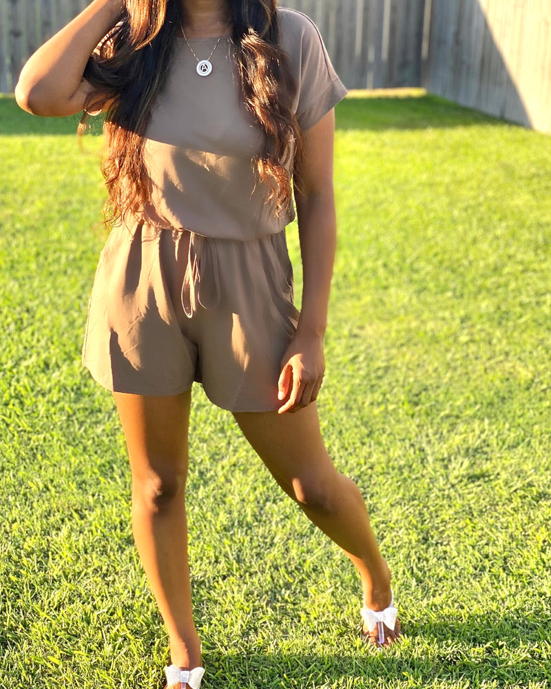On The Run romper (Mocha)