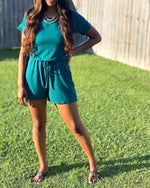 On The Run romper (Deep Green)