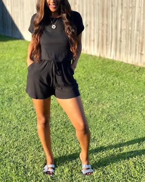 Load image into Gallery viewer, On The Run romper (Black)