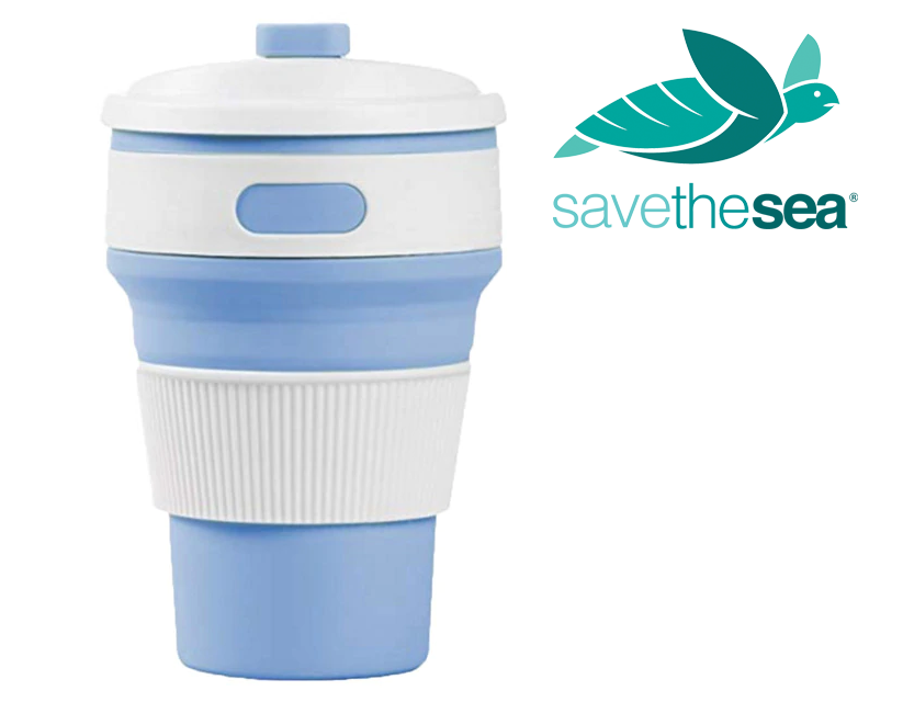 Save the Sea® Turtles Silicone Reusable Collapsible Coffee Cup
