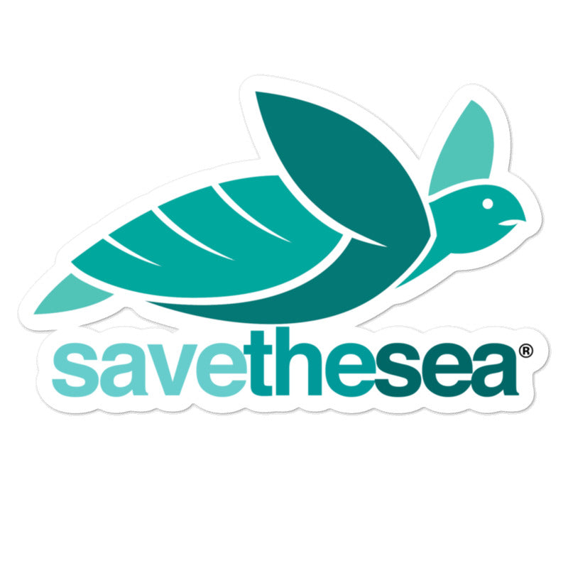 Save the Sea Turtle Stickers Bubble-Free