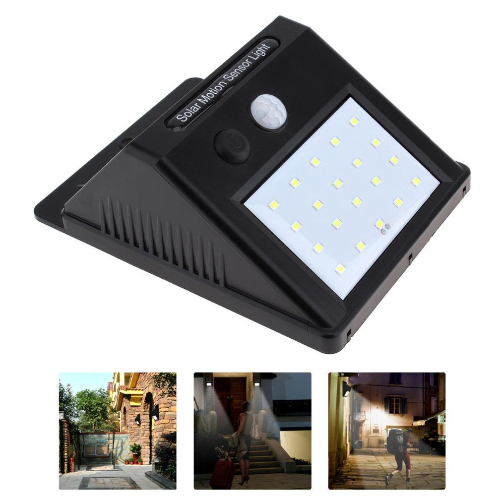 Super Solar Powered Motion Sensor Light Bright No Wiring Also Lights Together With Hover To Zoom
