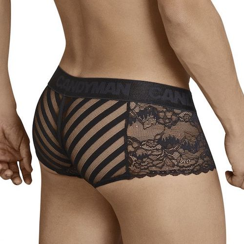 CandyMan V-Pouch Mesh/Lace Trunks - in2it
