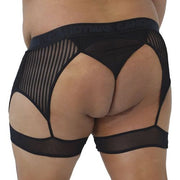 2XL - 3XL CandyMan Stripes Garter Thong