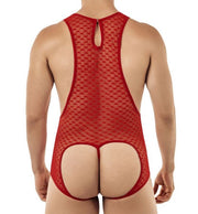 CandyMan Red Hearts Lace Bodysuit