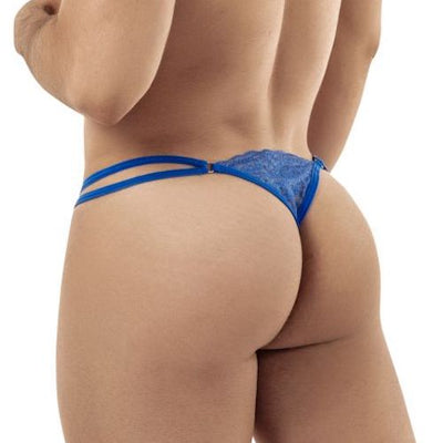 CandyMan Double Strap Lace G-String/Thong - in2it