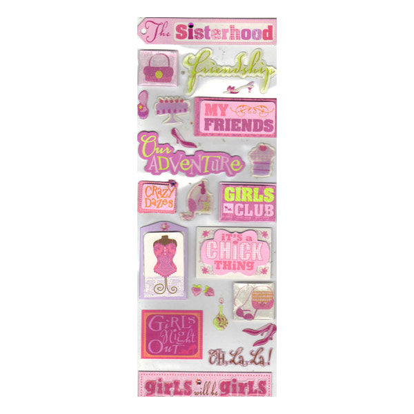 Girls Night Out Words Sticker Medley KCO-30-156616
