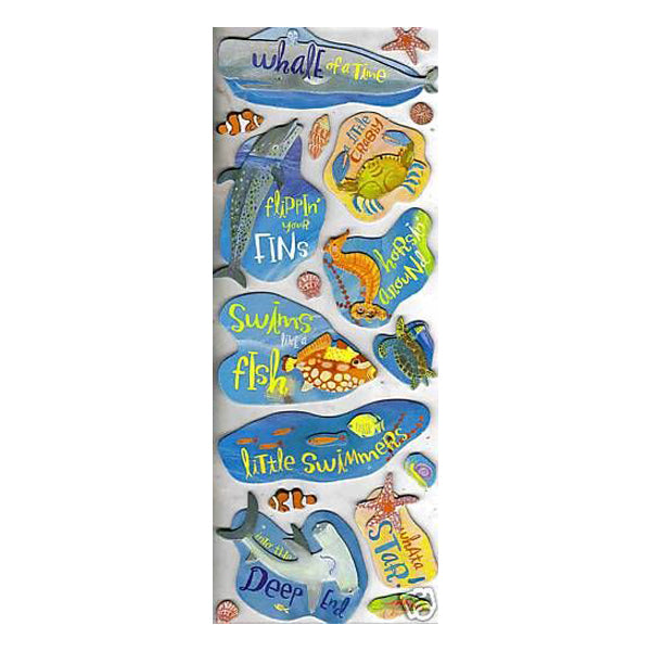 Donna Ingemanson Under the Sea Adhesive Chipboard KCO-574106