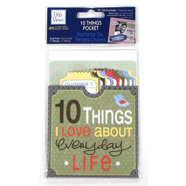 Everyday 10 Things Pocket DV-TP-106