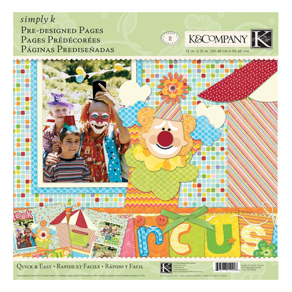 Simply K Circus Pre-Designed Pages KCO-30-159228