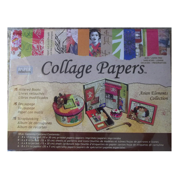 Asian Elements Collage Papers COL02219