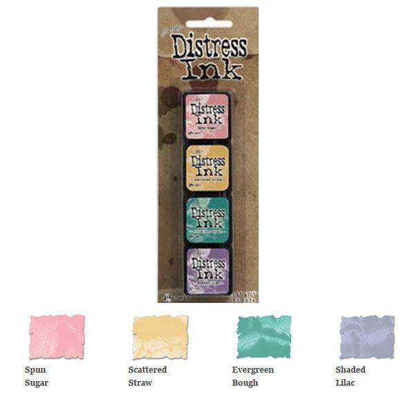 Mini Distress Ink Pad Kit 4 TH-TDPK40347