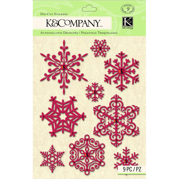 Yuletide Snowflake Glitter and Gem Die-Cut KCO-30-579477
