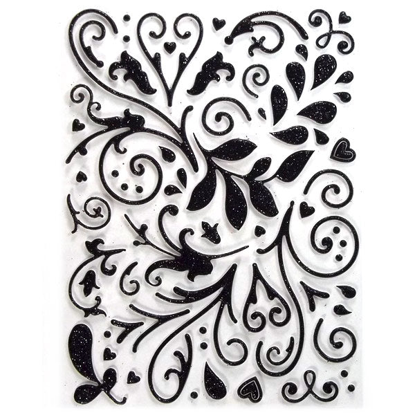 The Kiss Black Swirls Glitter KCO-30-612228