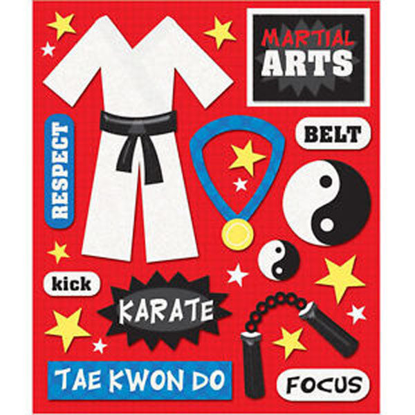 Martial Arts Sticker Medley KCO-30-585911
